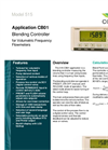 Contrec - Model 515 – CB01 - Frequency Input Blending Controller- Brochure