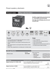 Model 901 - LCD Preset Counter Brochure