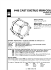 1408 - Cast Ductile Iron Couplings Datasheet