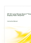 DF-G3 Long Range Expert Dual Display Fiber Amplifier - Instruction Manual