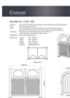 Model CAR-182 - Outdoor Recycling Container Brochure