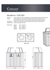 Model CAR-209 - Commercial Waste Receptacle Recycling Bin- Brochure