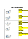 HI 96802 - Digital Refractometer for Sugar Analysis Fructose – Brochure