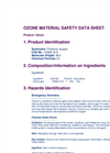 Ozone Material Safety Data Sheet