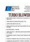 High Speed Turbo Flyer Blowers Brochure