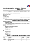 SDS – Aluminum Sulfate Solution 5% Acid MSDS