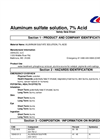 SDS – Aluminum Sulfate Solution 7% Acid MSDS