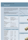 Delta D-2208 Geotextile-Lined Unit Technical Specification Sheet