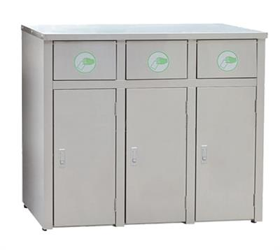 Sunperk - Model SS3-90SAR - Stainless Steel Recycling Station