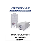 Hypervac Technologies - Revolution Hybrid Vacuum - Operating Manual
