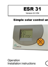 Model ESR31 - Simple Solar Conroller Brochure