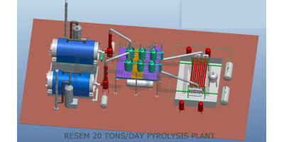 Model 2HA-35-PT Senior - Tyre Pyrolysis Plant