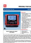 GX-2009 Smallest Four Gas Confined Space Monitor - Product Datasheet