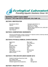 Pro-Pump - Model SD - Highly Active Liquid Biological Microbial MSDS Brochure
