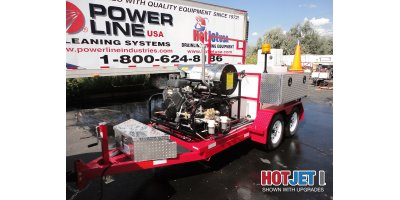 Hot Jet - Model HJ1SA1038HW - Single Axle Trailer Mounted Hot Water Sewer & Drain Line Jetters