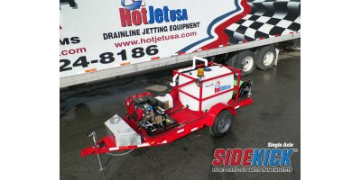 Model SKS23SA7400CWM - Single Axle Trailer Mounted Cold Water Sewer & Drain Line Jetter