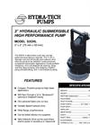 3 Hydraulic Submersible High Performance Pump S3CHL