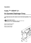 Husky - Model 1050HP - High Pressure Air-Operated Diaphragm Pump Brochure
