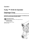 Husky - Model 15120 - Air-Operated Double Diaphragm Pumps Brochure