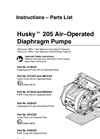 Husky - Model 205 - Air-Operated Double Diaphragm Pumps Brochure