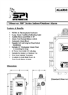 SPI - Model Observer 500 Series - Indoor/Outdoor Alarm - Datasheet