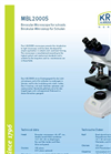 KRÜSS - Model MBL2000 - Microscopes for Biology & Laboratory Brochure