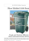 Blow-Molded - Model 3100 Series - Waste Handling Carts Brochure