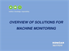 Overview of solutions for machine monitoring