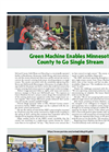 Model 50,25,12 TPH - Single Stream Recycling Systems Brochure