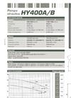 Dragflow HY400A/B Hydraulic Submersible Agitator Pump Datasheet
