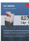 65 Series - Beside the Press Granulators Brochure