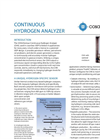 COSA/Xentaur - Continuous Hydrogen Analyzer (CHA) Brochure