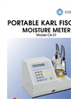 Mitsubishi - CA-21 - Compact Portable Coulometric Karl Fischer Moisture Meter Brochure