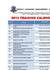 2013 Training Calendar Brochure