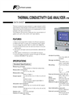 Model ZAF-3 - Thermal Conductivity Gas Analyzer Brochure