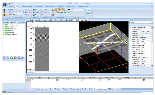 Radan   gpr software by gssi   underground mapping software.