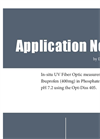 Application Note - In-situ UV Fiber Optic measurement of Ibuprofen (400mg) in Phosphate Buffer, pH 7.2 using the Opt-Diss 405