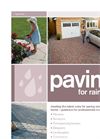 Paving for Rain - Brochure