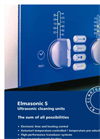 Elmasonic - Model S Series - Ultrasonic Cleaning Units Brochure