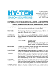 HDPE Coated Woven Mesh Gabions and Mattresses Technical Specifications