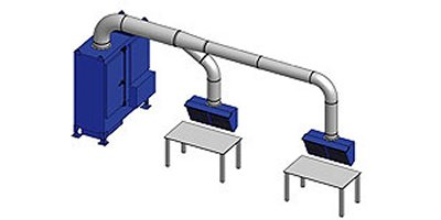 RoboVent  - Cross Flow Welding Exhaust Hood System