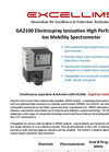 Excellims - Model GA2100 - Standalone High Performance Ion Mobility Spectrometry (HPIMS) System - Brochure