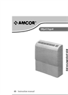 Amcor - Model D850E - Commercial Dehumidifier - Manual