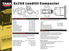 TANA - Gx260 - Landfill Compactor Technical Specifications