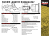 Tana - Model E450 - Landfill Compactor Technical Specifications