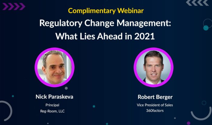 Regulatory Change Management: What Lies Ahead in 2021
