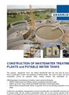 Waste Water Treatment Plant And Tank Construction Services