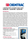 Chemtrac - Model LCA-01 / LCA-02 / LCA-03 - Laboratory Charge Analyzer - Brochure