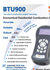 E-Instruments - Model BTU900 - Economical Residential Combustion Analyzer - Brochure