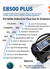 E Instruments - Model E8500 Plus - Portable Industrial Combustion Gas & Emissions Analyzer - Brochure